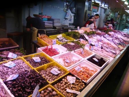 Mercado en la clase de cocina