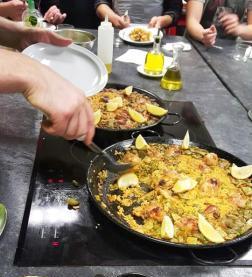 Paellas clase de cocina española