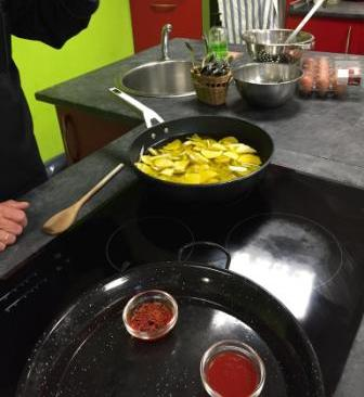 Spanish omelet cooking class