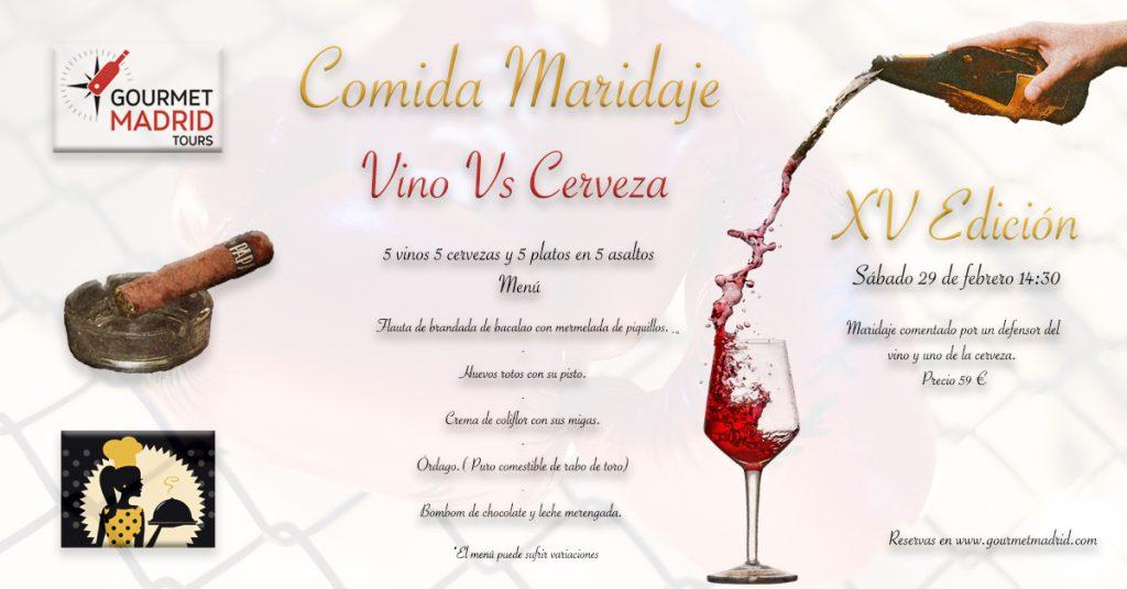 Maridaje Vino Cerveza Gourmet Madrid